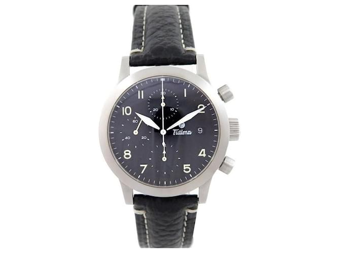 Autre Marque NEW TUTIMA FX CHRONO WATCH 39 MM AUTOMATIC BRUSHED STEEL WATCH Silvery  ref.365265