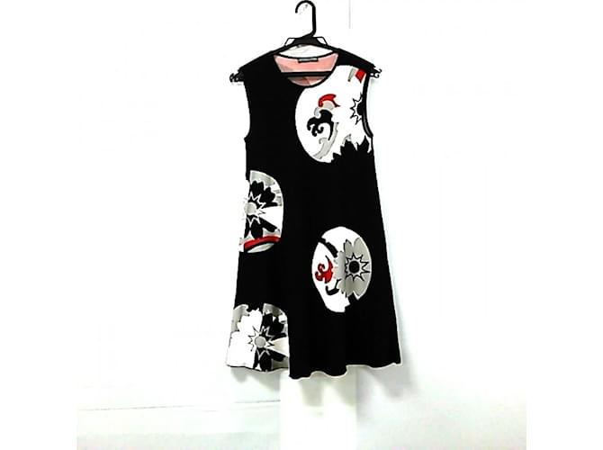 [Used] ALEXANDER MCQUEEN One Piece Sleeveless Black White Red Multiple colors Cotton  ref.366776