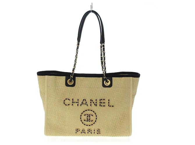 Chanel tote bag Beige Synthetic  ref.369003