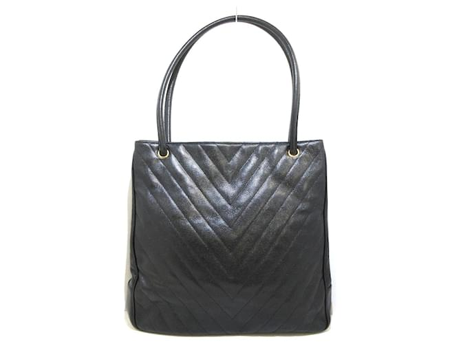 Chanel tote bag Black Leather  ref.369006