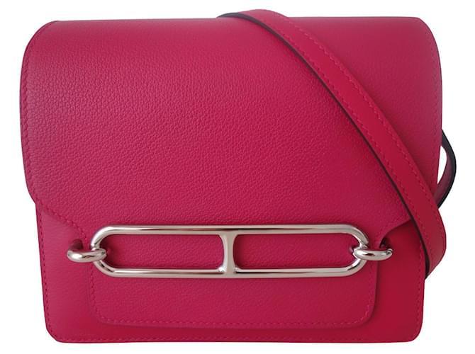 Hermès Hermes mini Roulis bag Pink Prune Leather  ref.369124
