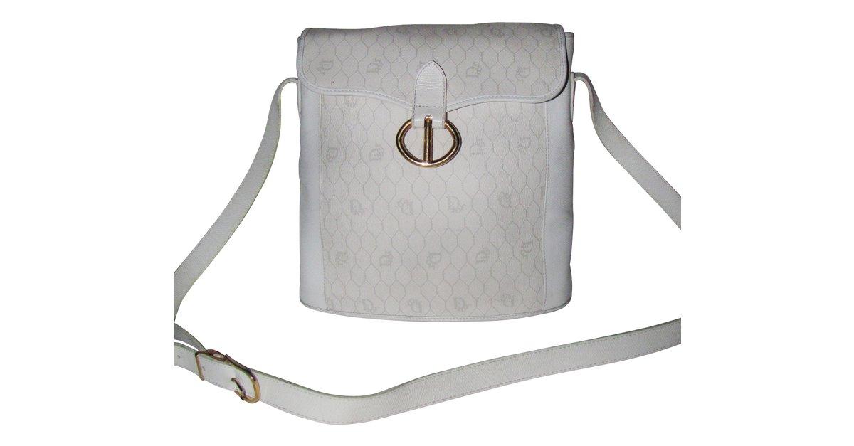 Sac A Main Blanc Christian Dior : Sacs ? main christian dior cuir blanc ref joli closet