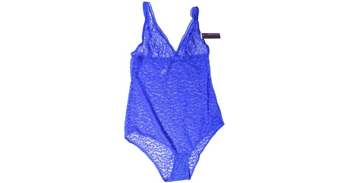 Lingerie autre marque princesse tam tam body dentelle bleu joli closet - Porte jarretelle princesse tam tam ...