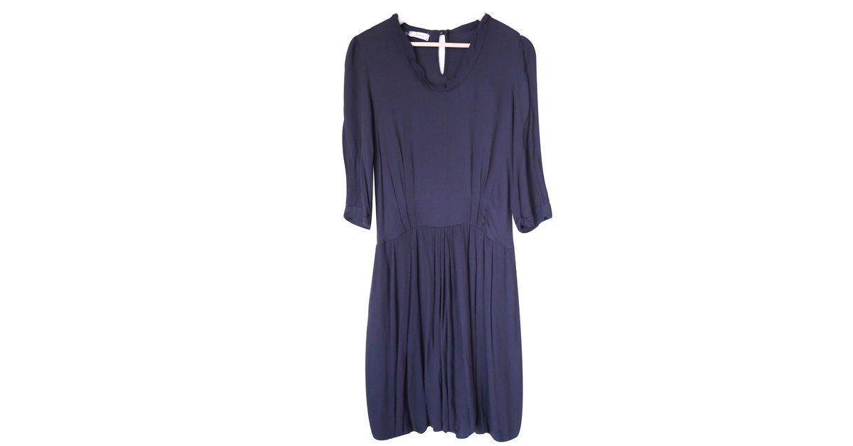 robes forte forte robe dress viscose violet. Black Bedroom Furniture Sets. Home Design Ideas