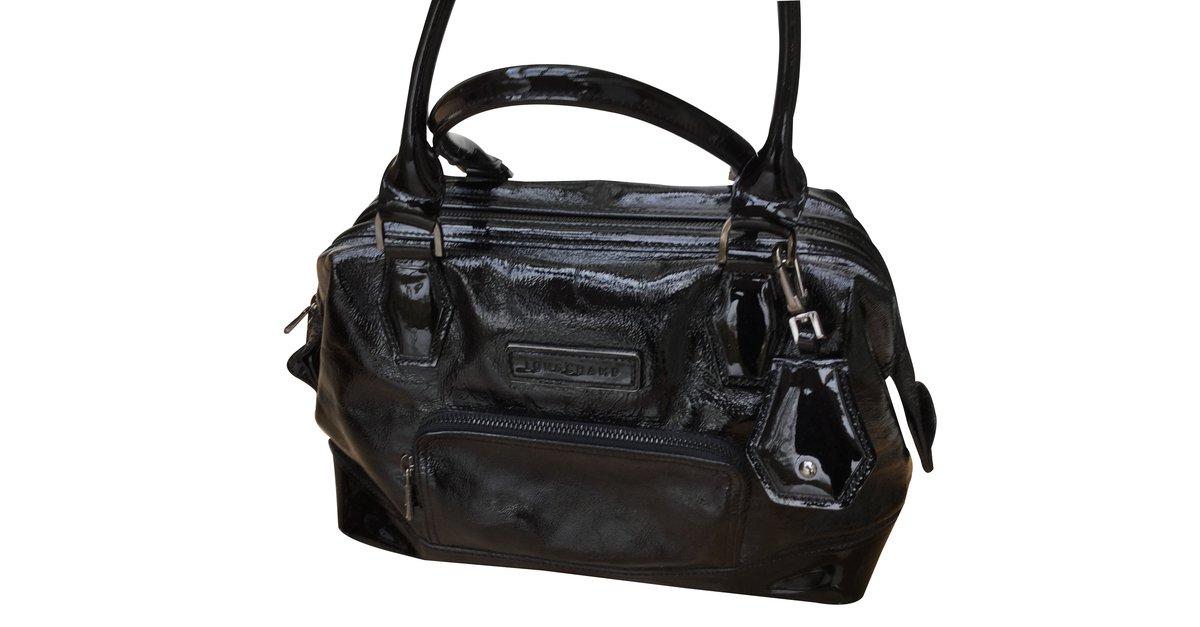 Sacs à main Longchamp Legend Cuir vernis Noir ref.14722