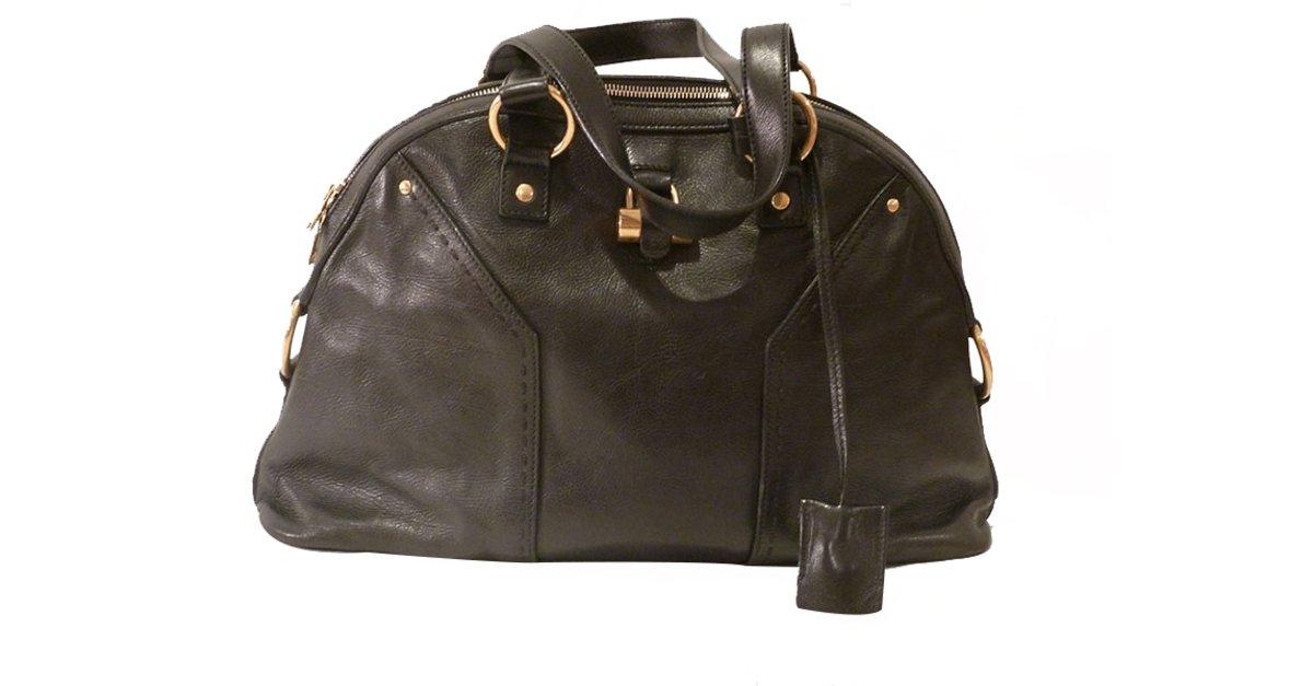 d1227087b5 Saint Laurent Muse Large Tote Bag Handbags Leather Black ref.21613 - Joli  Closet