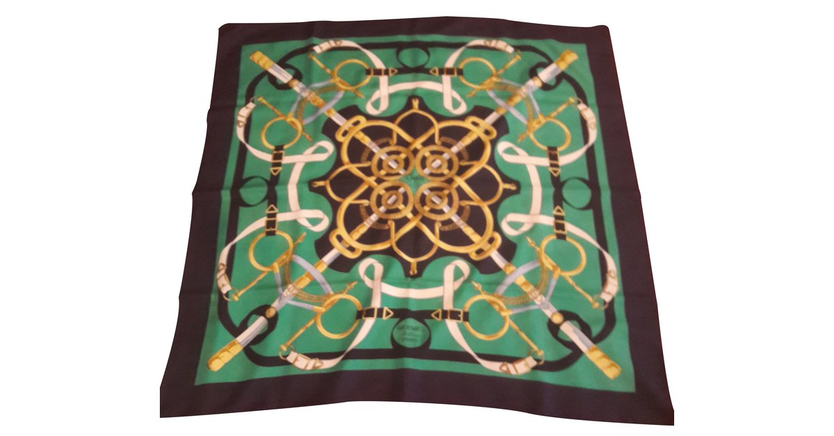 23419 Foulard Or seta Hermès D Ref multipli in Eperon colori pxtnSqz7w