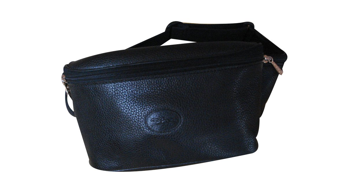 Longchamp Bag Briefcase Bags Briefcases Leather Black ref.36186