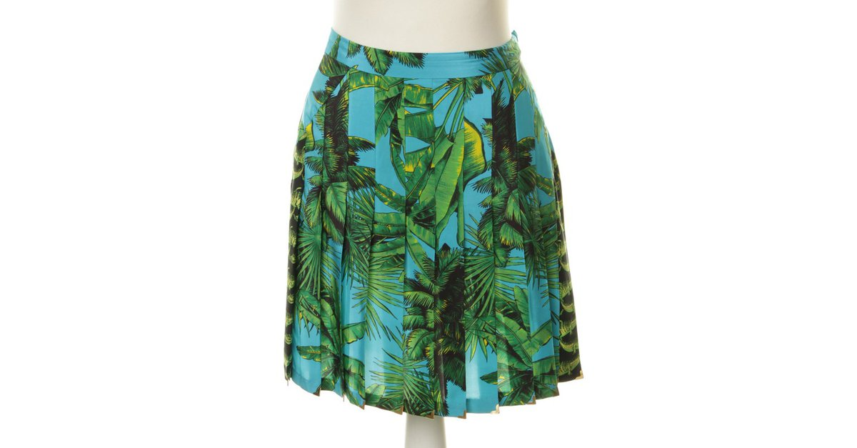 versace for h m skirt skirts silk colors ref