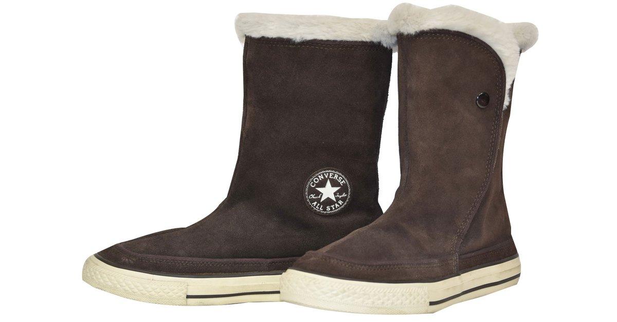 boots femme converse