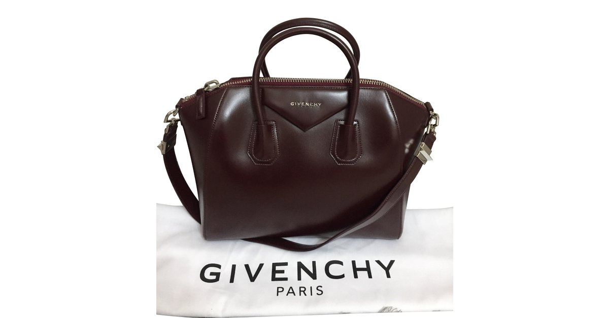 530e120c6f6f Givenchy Antigona medium Handbags Leather Brown ref.56235 - Joli Closet