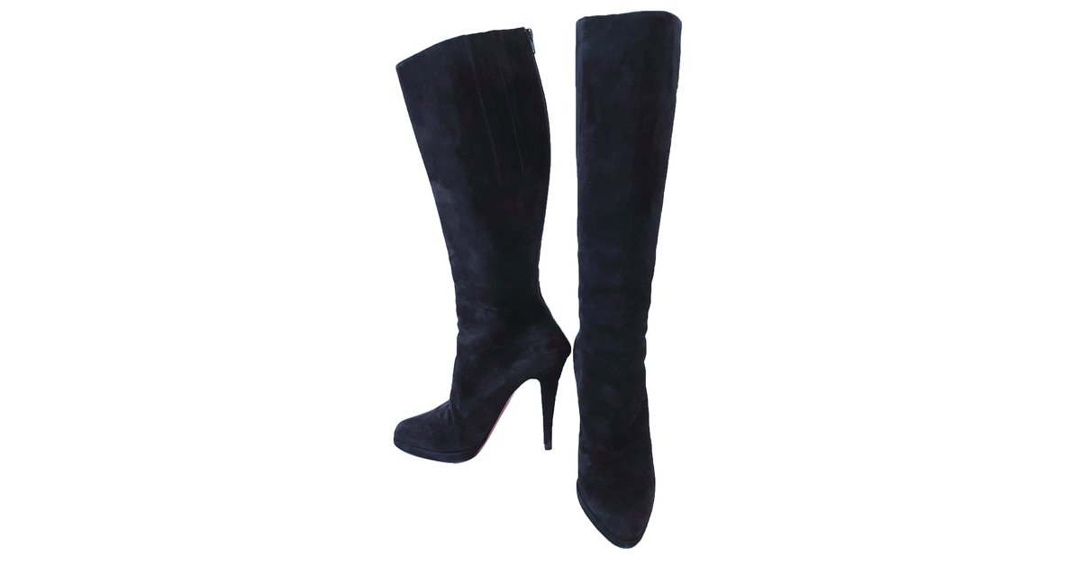 competitive price c550b a83d5 Christian Louboutin Boots Boots Suede Black ref.58650