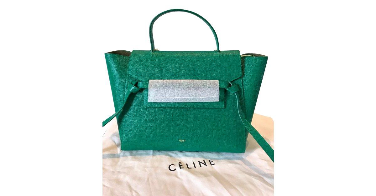 153db2ba411d Sacs à main Céline mini belt green Cuir Vert ref.65981 - Joli Closet