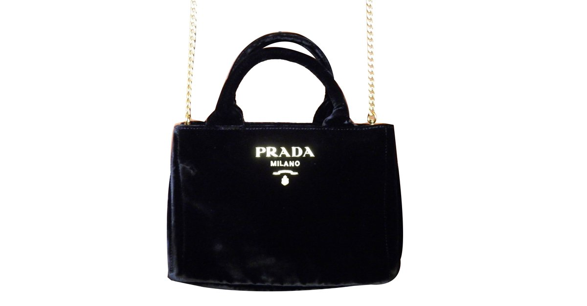455aae3ac133 Prada mini bag Handbags Velvet Black ref.68886 - Joli Closet