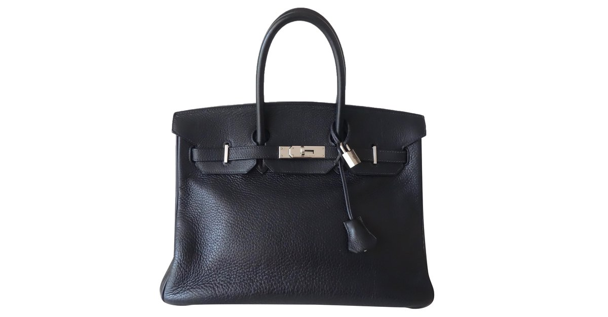 00c5abe6374 Hermès Birkin 35 Handbags Leather Navy blue ref.73678 - Joli Closet