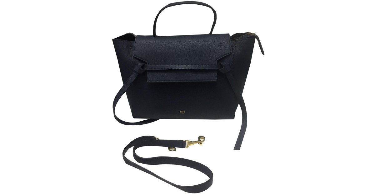 f3ece1234e5e ... Sacs à main Céline Sac Belt Cuir Bleu ref.78601 - Joli Close finest  selection  Céline Celine trapèze Handbags Leather ...