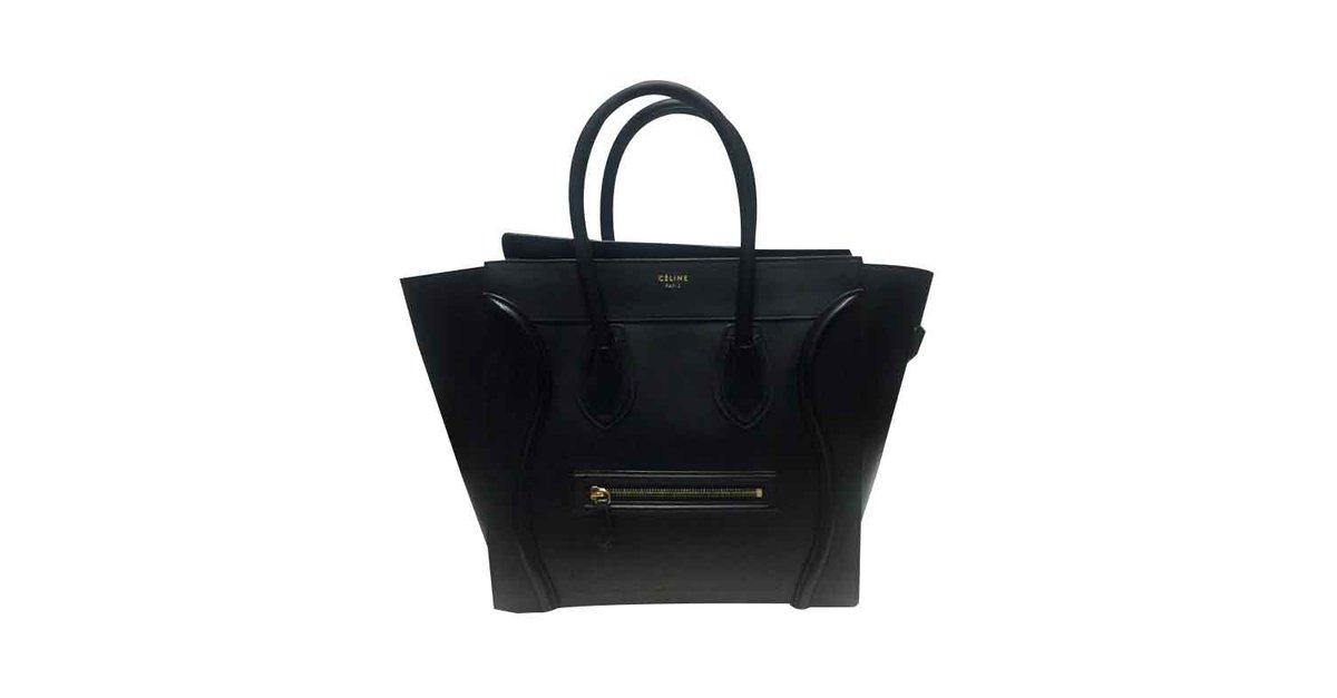 9e6352d48d Céline CELINE MINI LUGGAGE SAC BREND NEW BLACK Handbags Leather ...