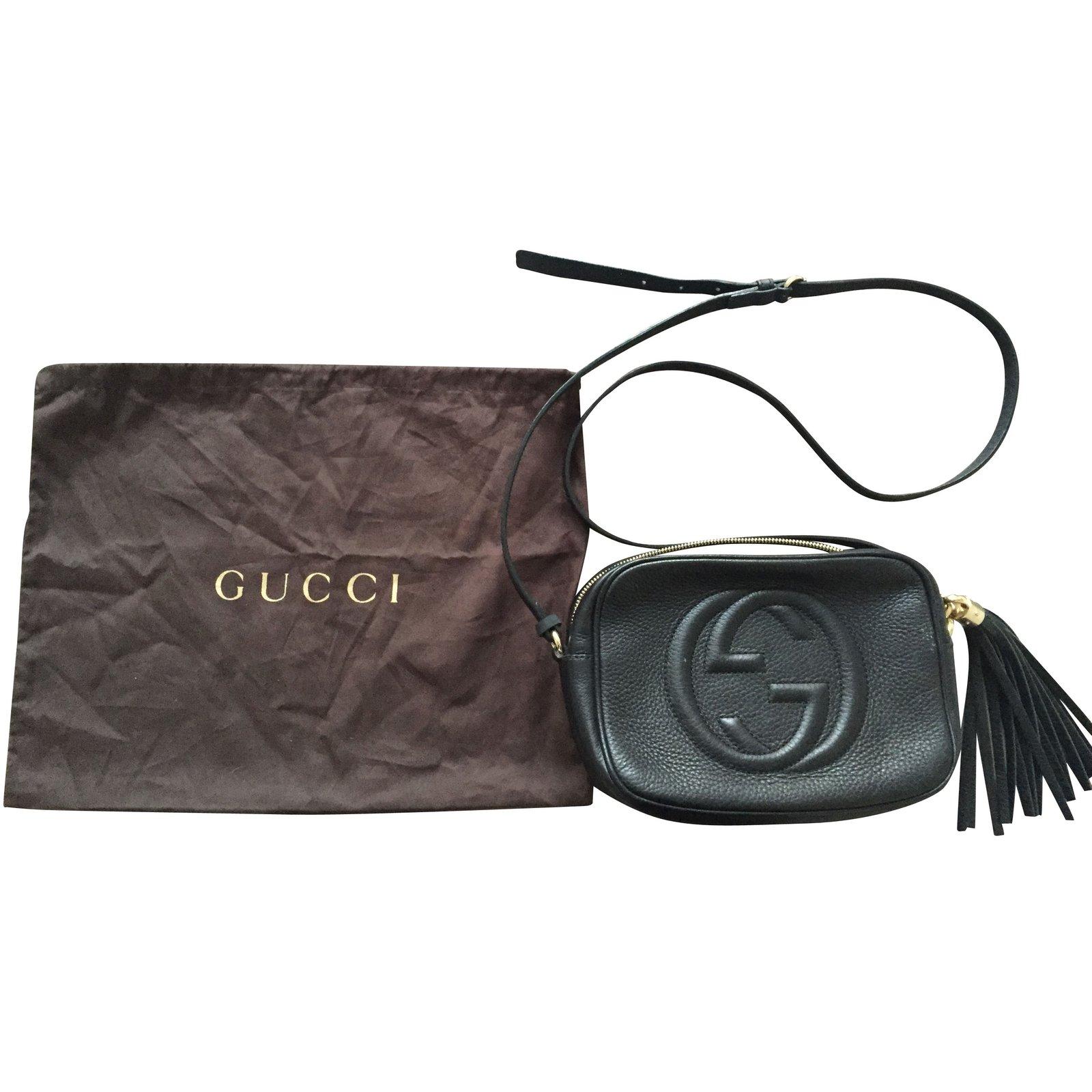 9e79d9ae3744 Sacs à main Gucci Disco Bag Soho Cuir Noir Cuir Noir ref.5799 - Joli Closet