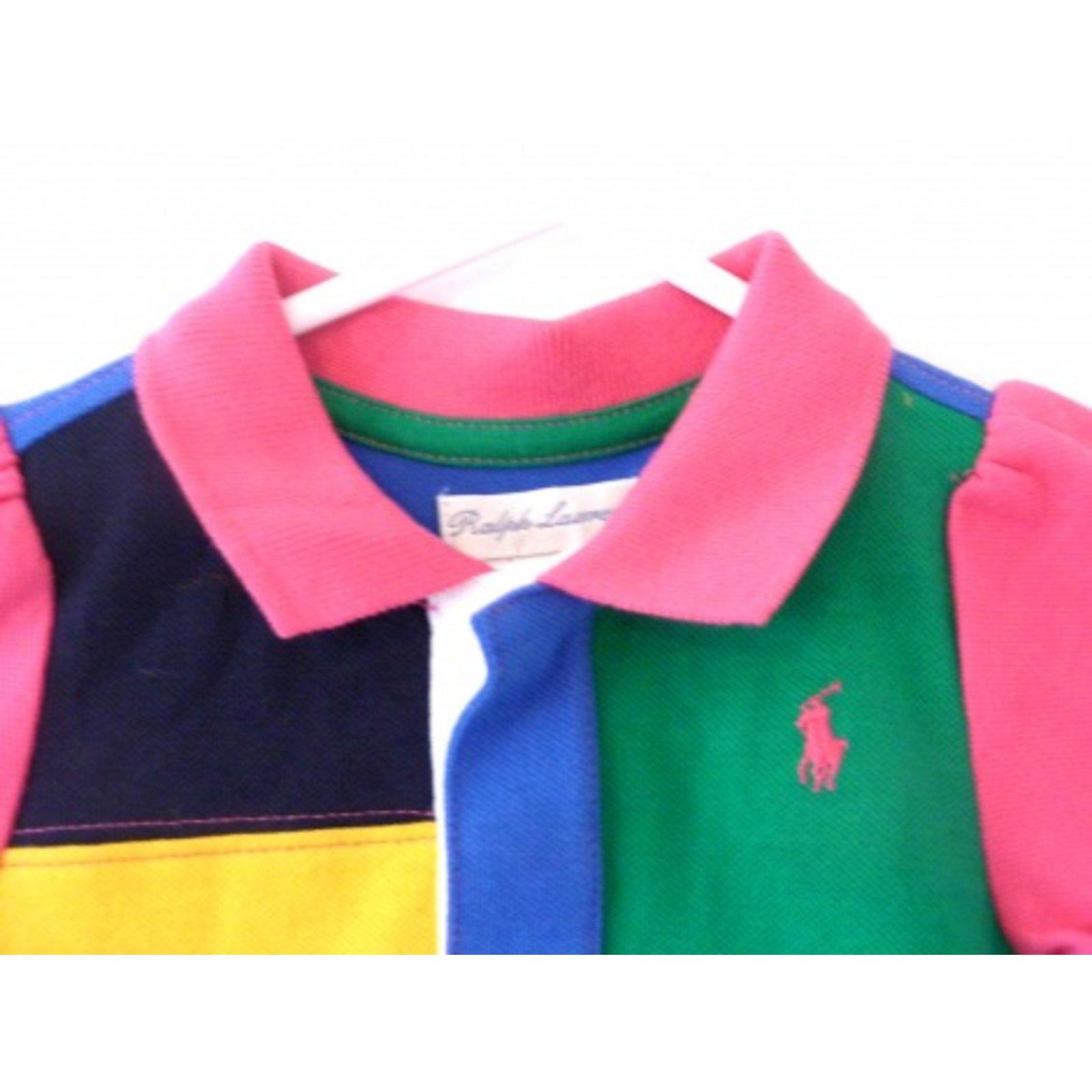 b49d1328c354 Les ensembles fille Polo Ralph Lauren Ensemble bébé Coton Multicolore  ref.6137 - Joli Closet