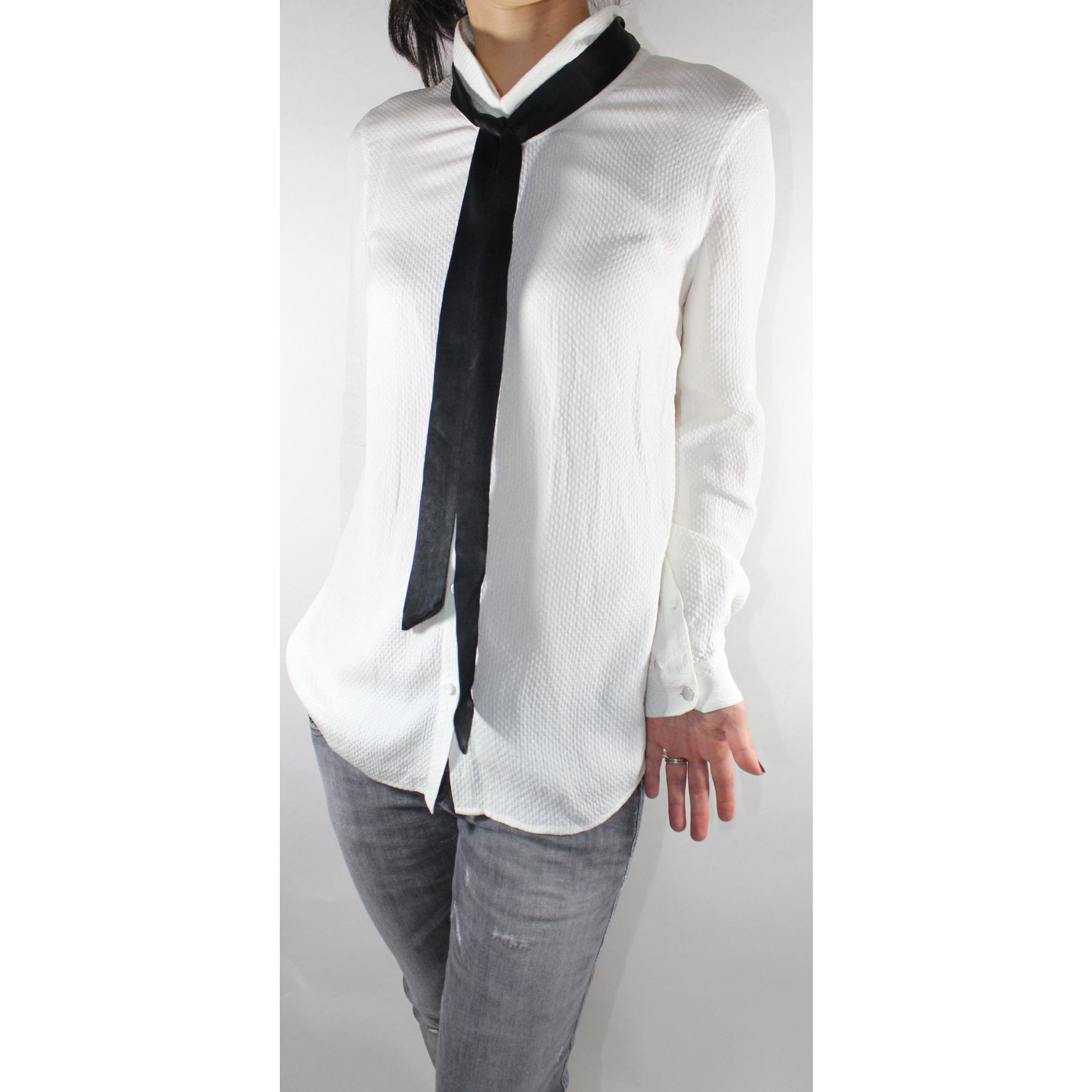 68add1f9a6 The Kooples Tops Tops Silk White ref.6823 - Joli Closet