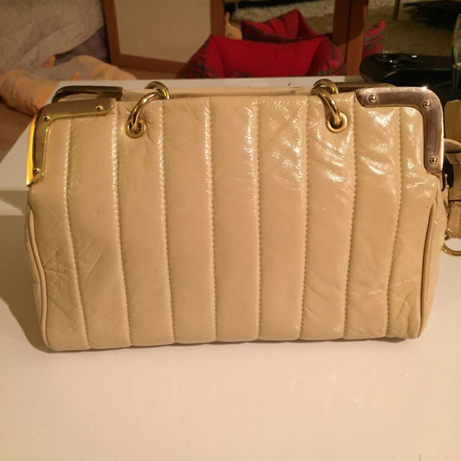 e6ea8b1a19a Luella Handbags Handbags Patent leather Beige ref.7283 - Joli Closet