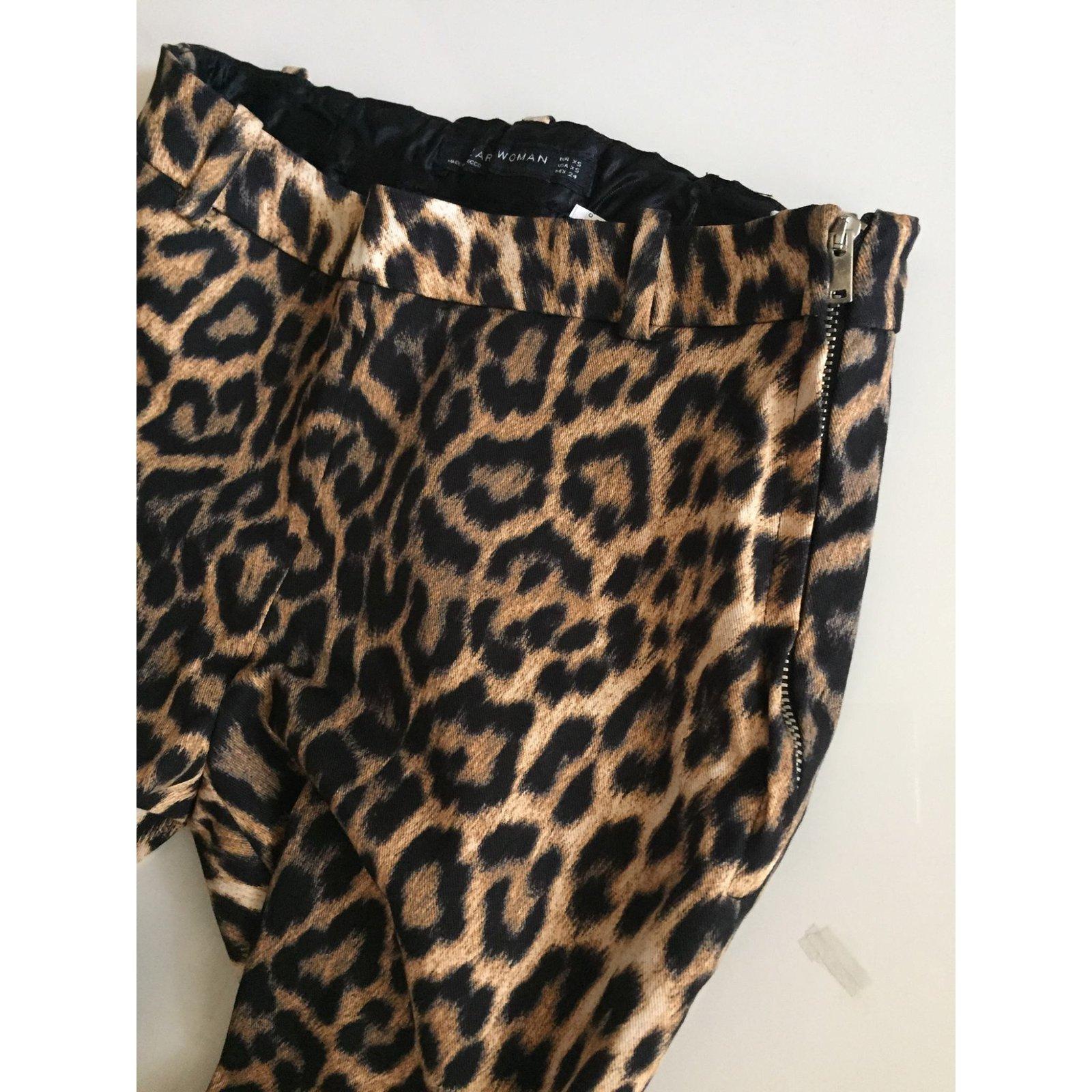 ZARA Bottes stretch motif léopard léopard léopard imprimé