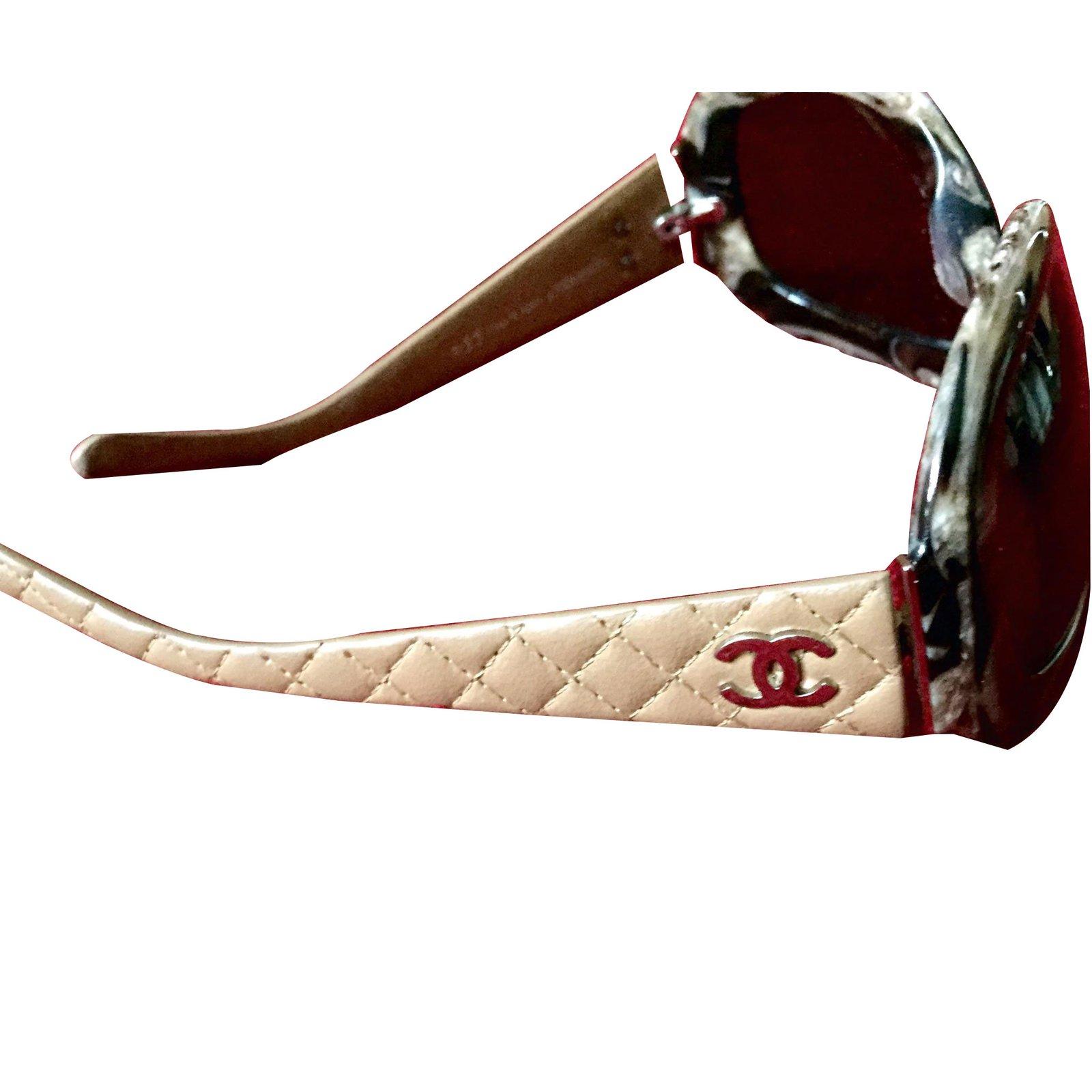 Chanel Beige Sunglasses  chanel sunglasses sunglasses leather beige ref 7573 joli closet
