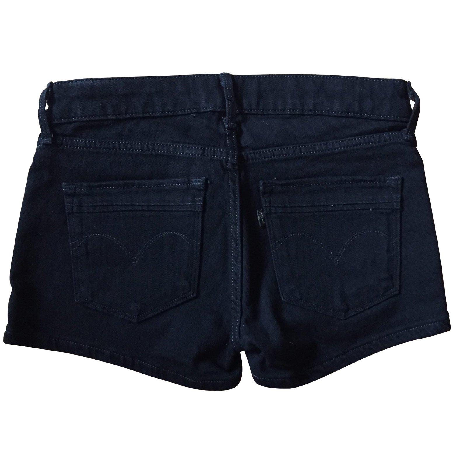 shorts levi 39 s shorts jean noir joli closet. Black Bedroom Furniture Sets. Home Design Ideas