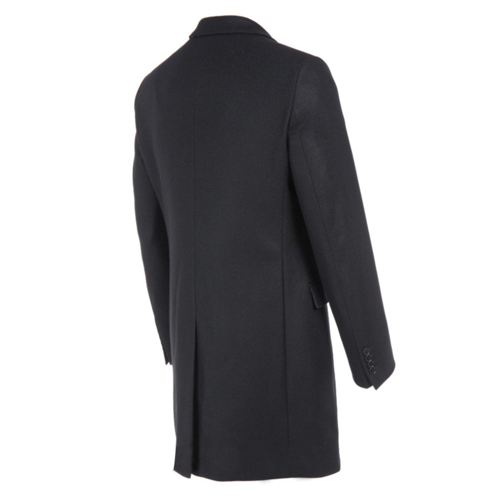 Manteau homme noir en laine