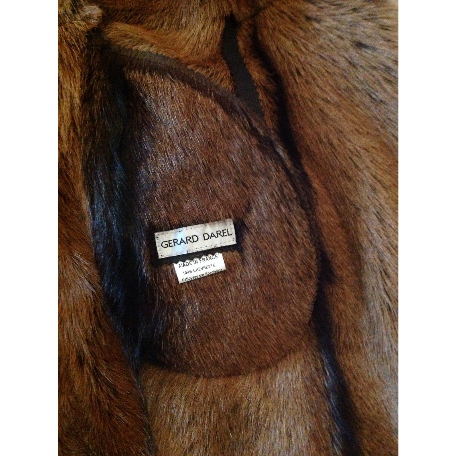 3b6b934bf6e4 Manteaux Gerard Darel Trench cuir Cuir Chocolat ref.9167 - Joli Closet