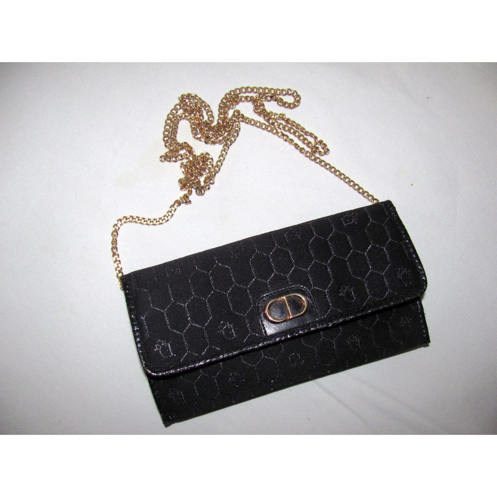 Christian Dior Clutch bags Clutch bags Cloth Black ref.9226 - Joli Closet d736cd03805f9