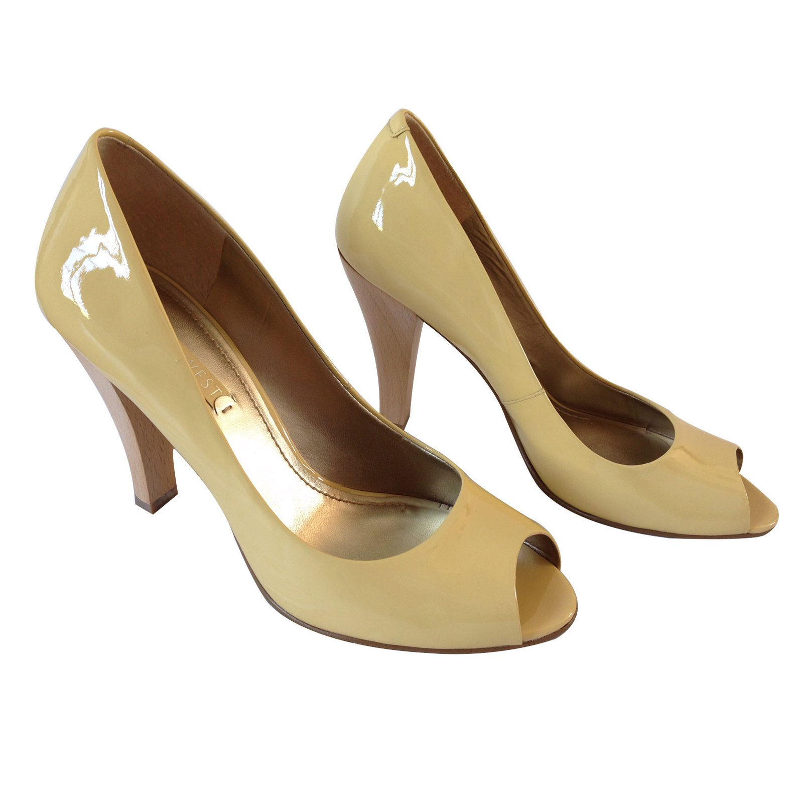 0bd6ad310a Nine West Heels Heels Patent leather Yellow ref.10462 - Joli Closet