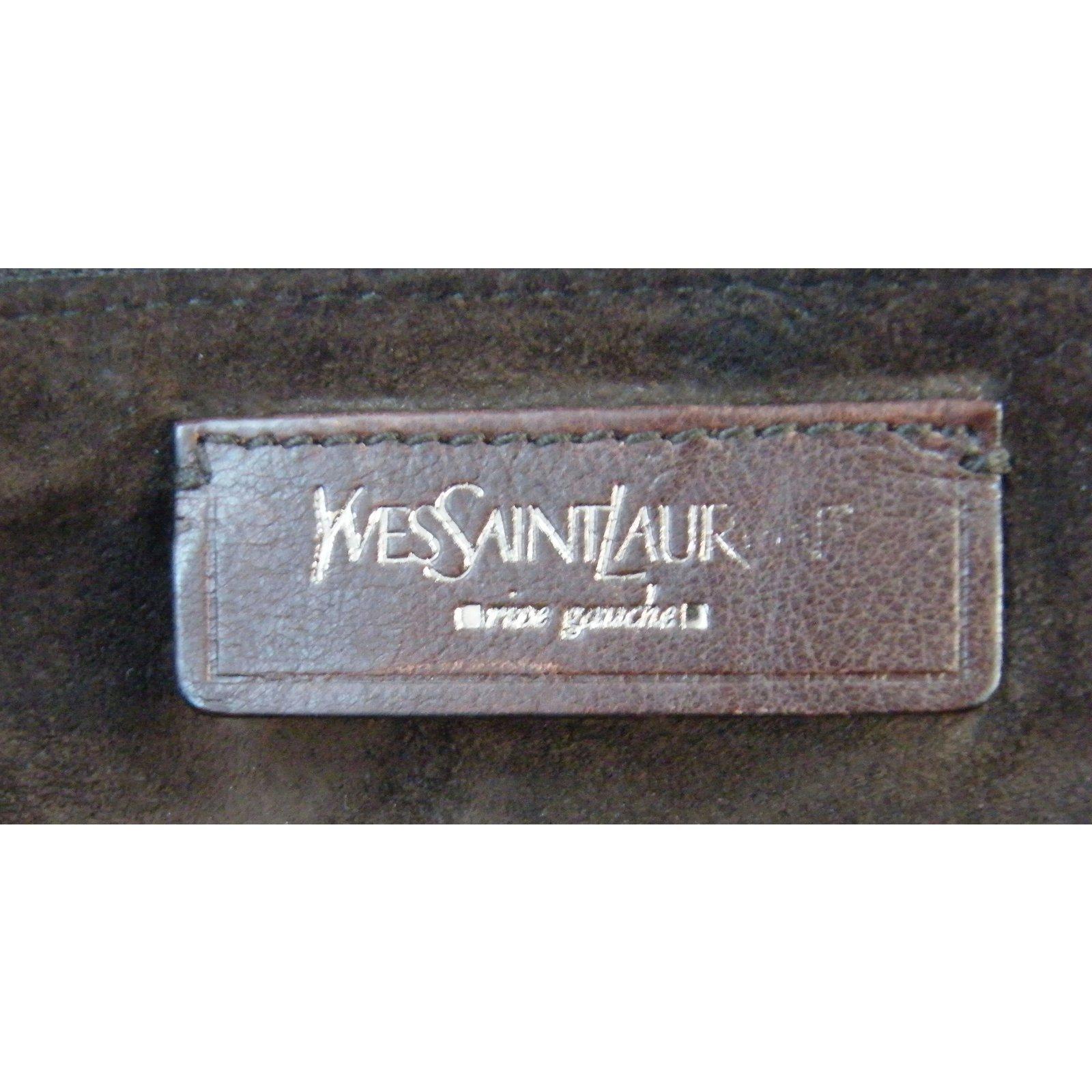 Facebook · Pin This. Yves Saint Laurent Handbags Handbags Leather Brown ref. 10870 904012810aa39
