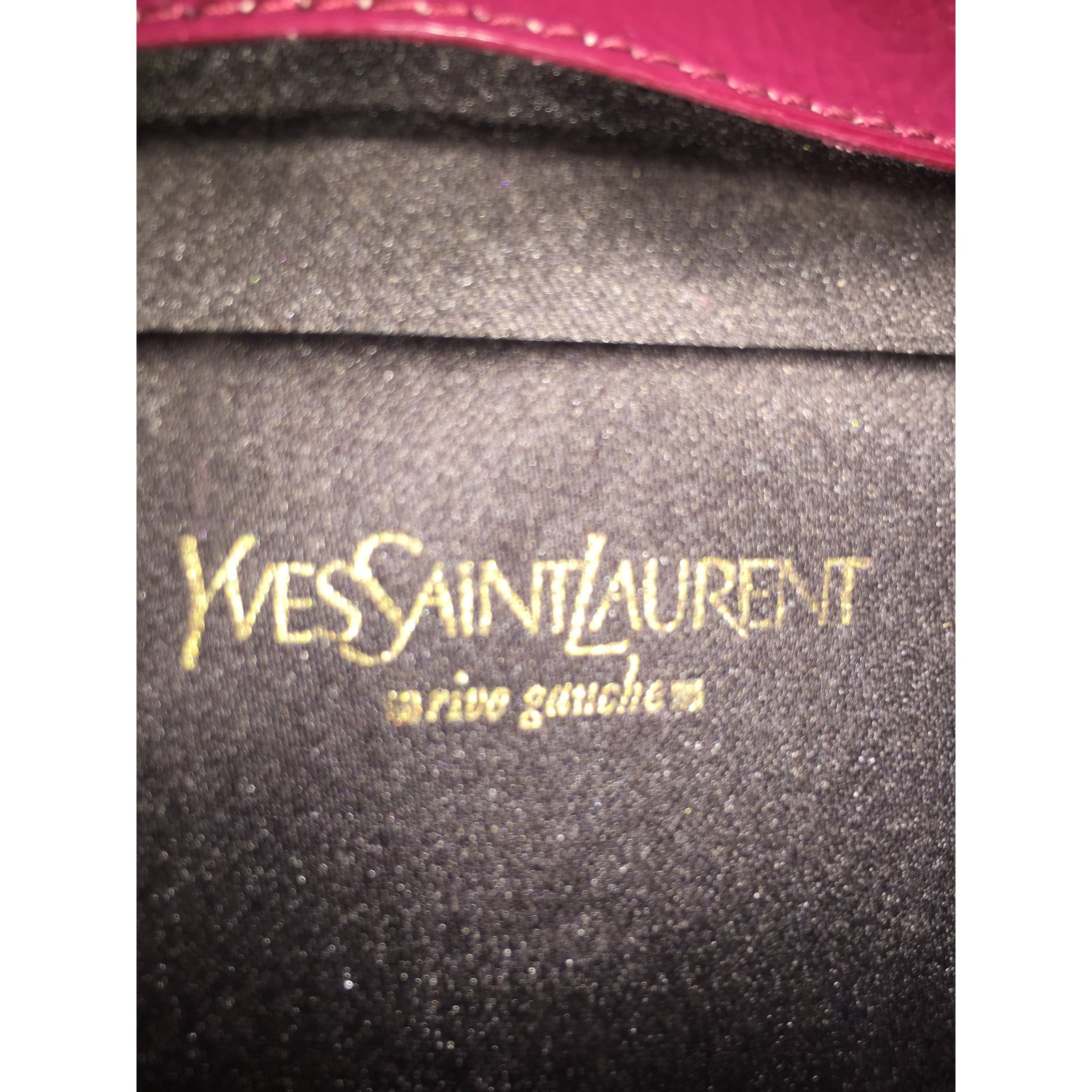 Clutch bags Yves Saint Laurent Clutch bags Patent leather Pink ref ...