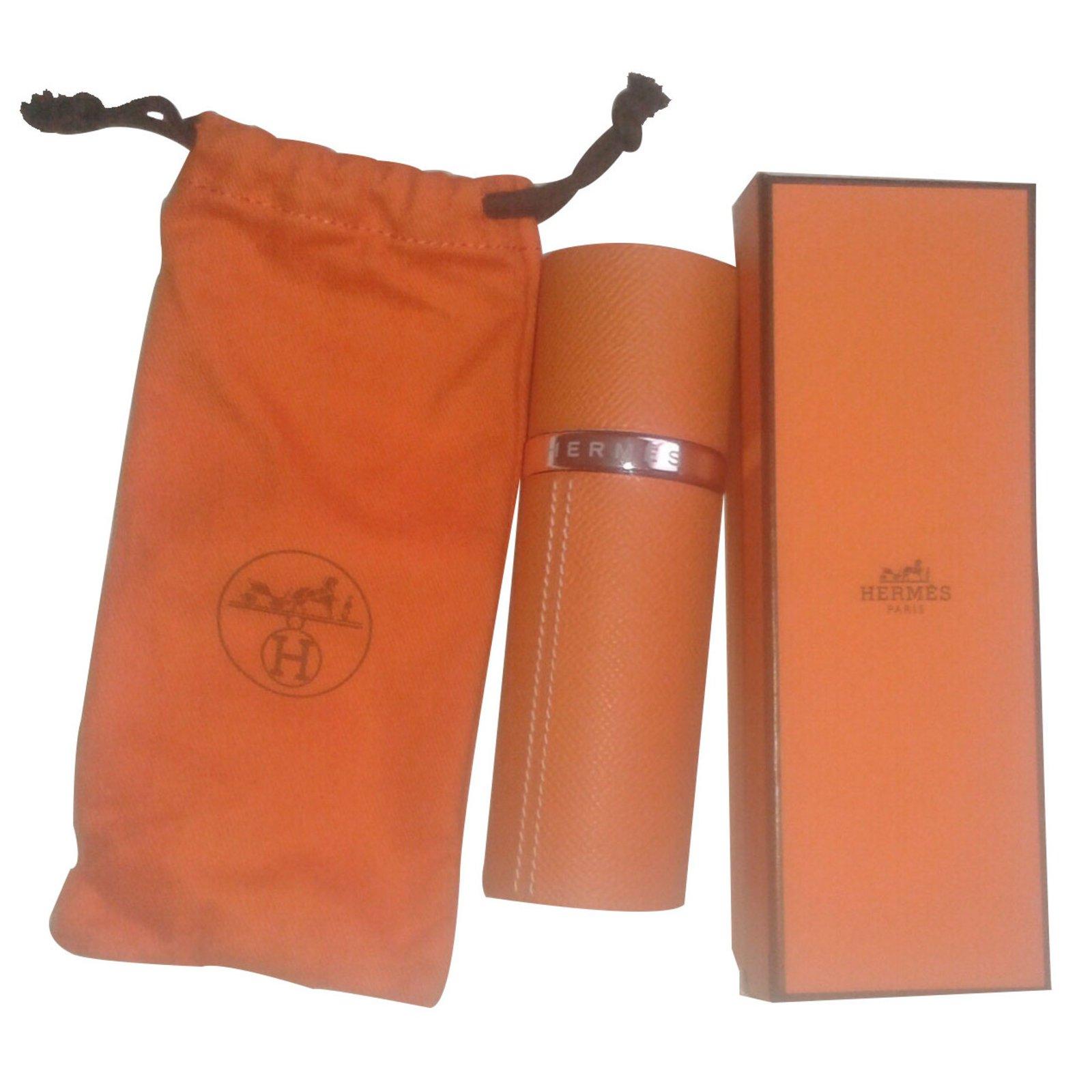 Vaporisateur Orange Hermès Calèche Cuir Maroquinerie Ref Petite AcLq435jR