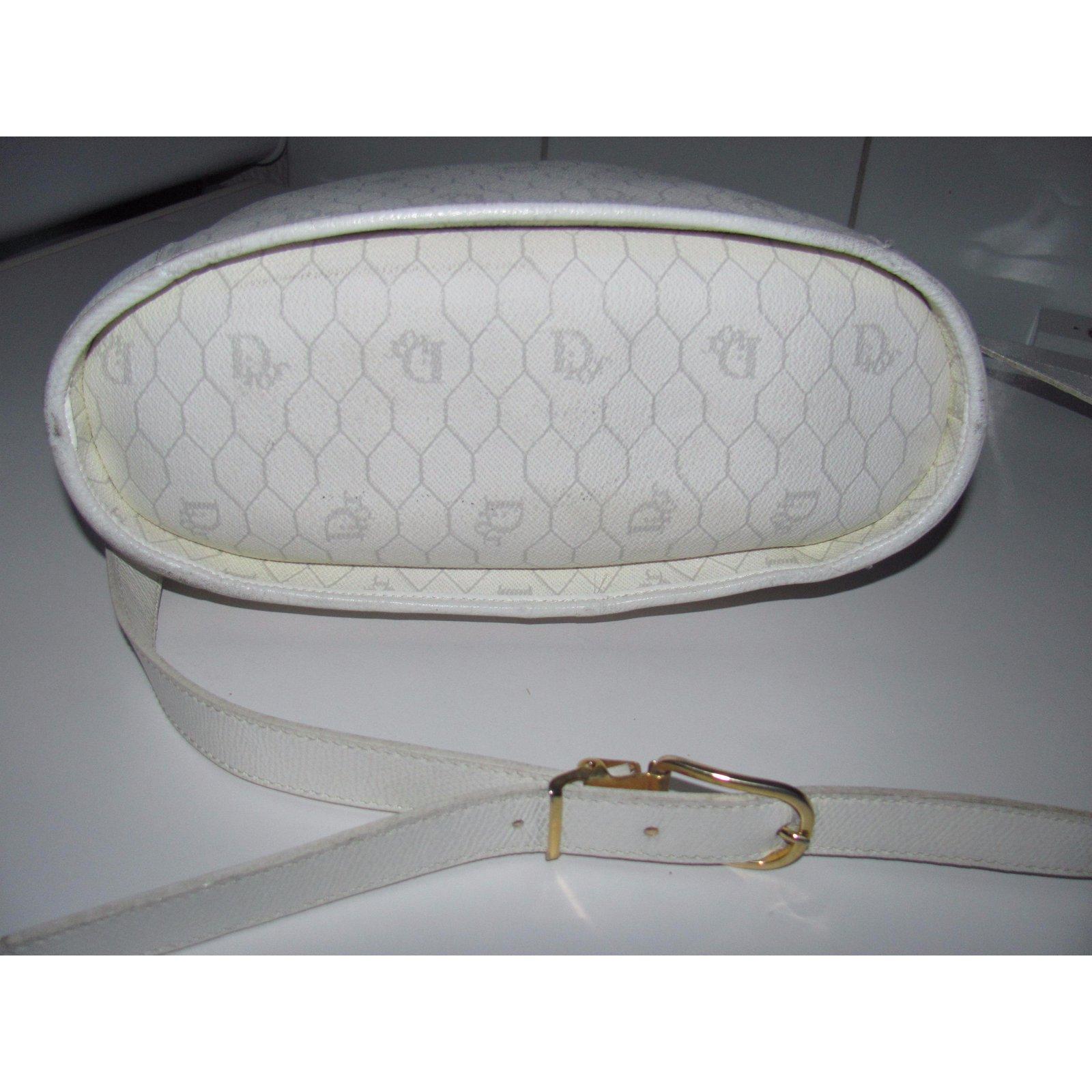 Sacs �� main Dior Sacs �� main Cuir Blanc ref.13069 - Joli Closet
