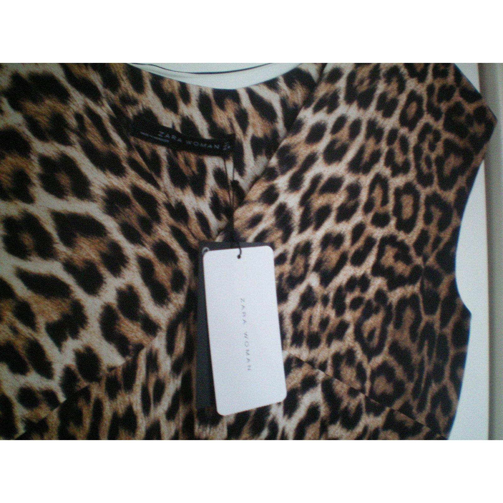 7195f3d930b Robes Zara Robes Viscose Imprimé léopard ref.13598 - Joli Closet