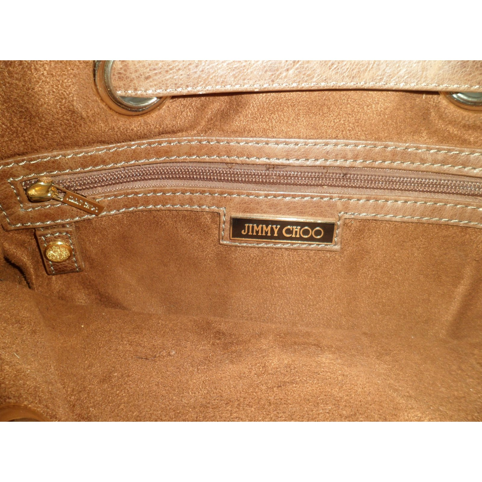 4f5d284469 Jimmy Choo Handbags Handbags Leather Caramel ref.13606 - Joli Closet