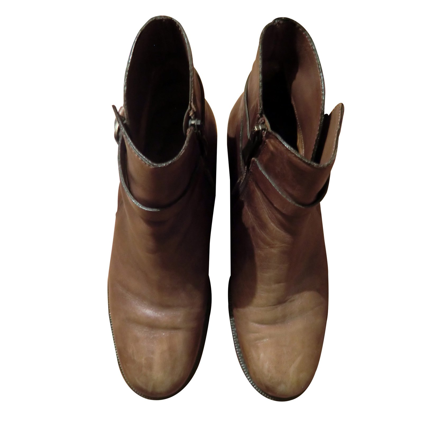 150b7aaa69c927 Vero Cuoio Ankle Boots Ankle Boots Leather Caramel ref.13755 - Joli Closet