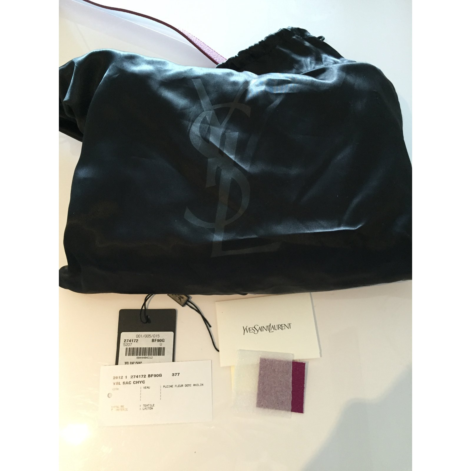 Yves Saint Laurent Handbags Handbags Leather Pink ref.14232 - Joli Closet 2174a338c5aa1