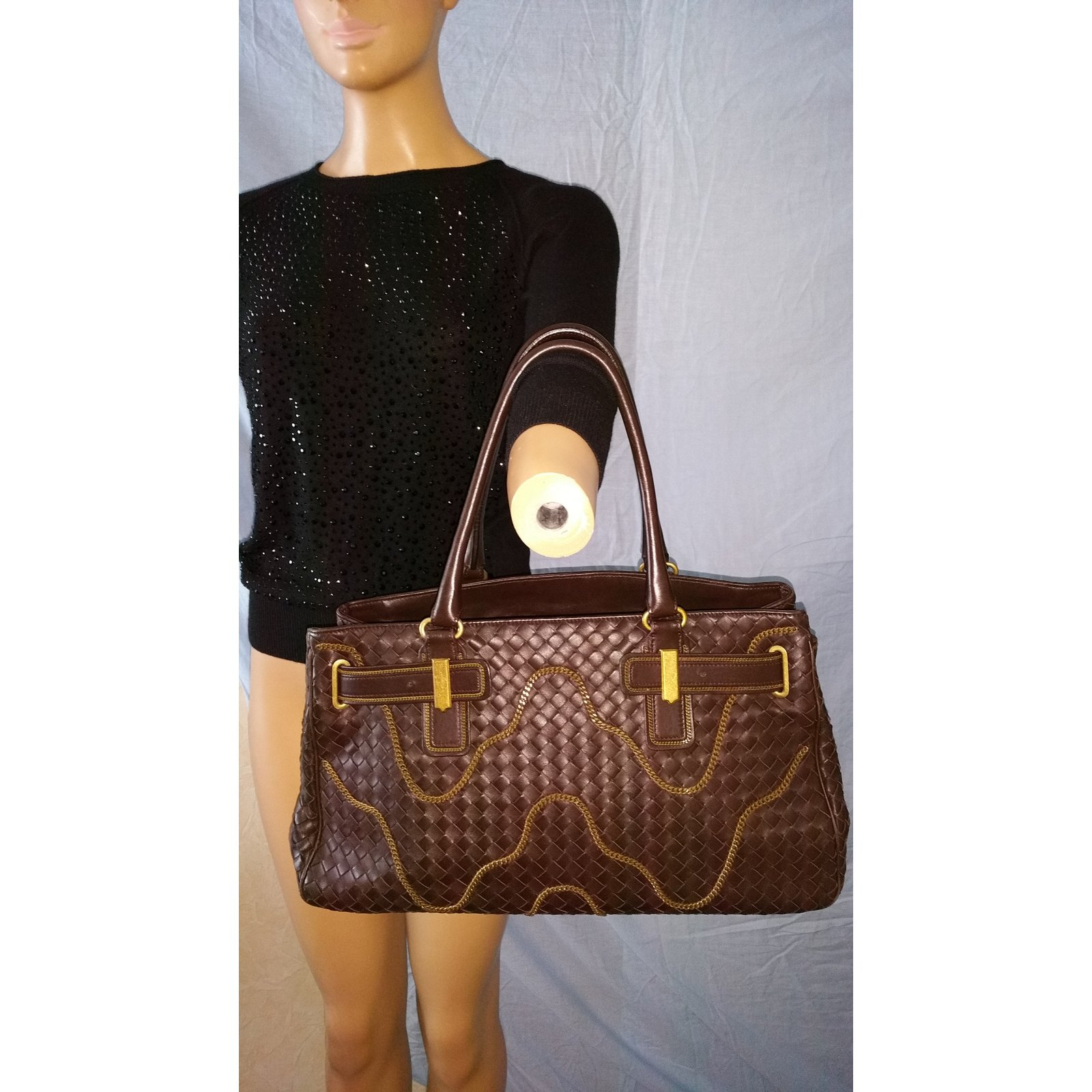 Cabas Bottega Veneta GM Cuir Marron ref.15104 - Joli Closet 304353415921c