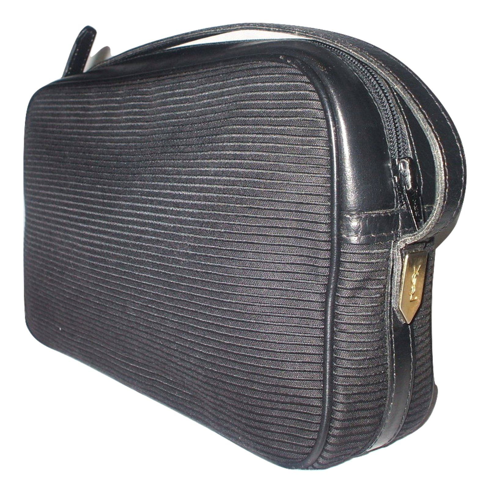 Yves Saint Laurent Handbags Handbags Cloth Black ref.15413 - Joli Closet f963d5b92f