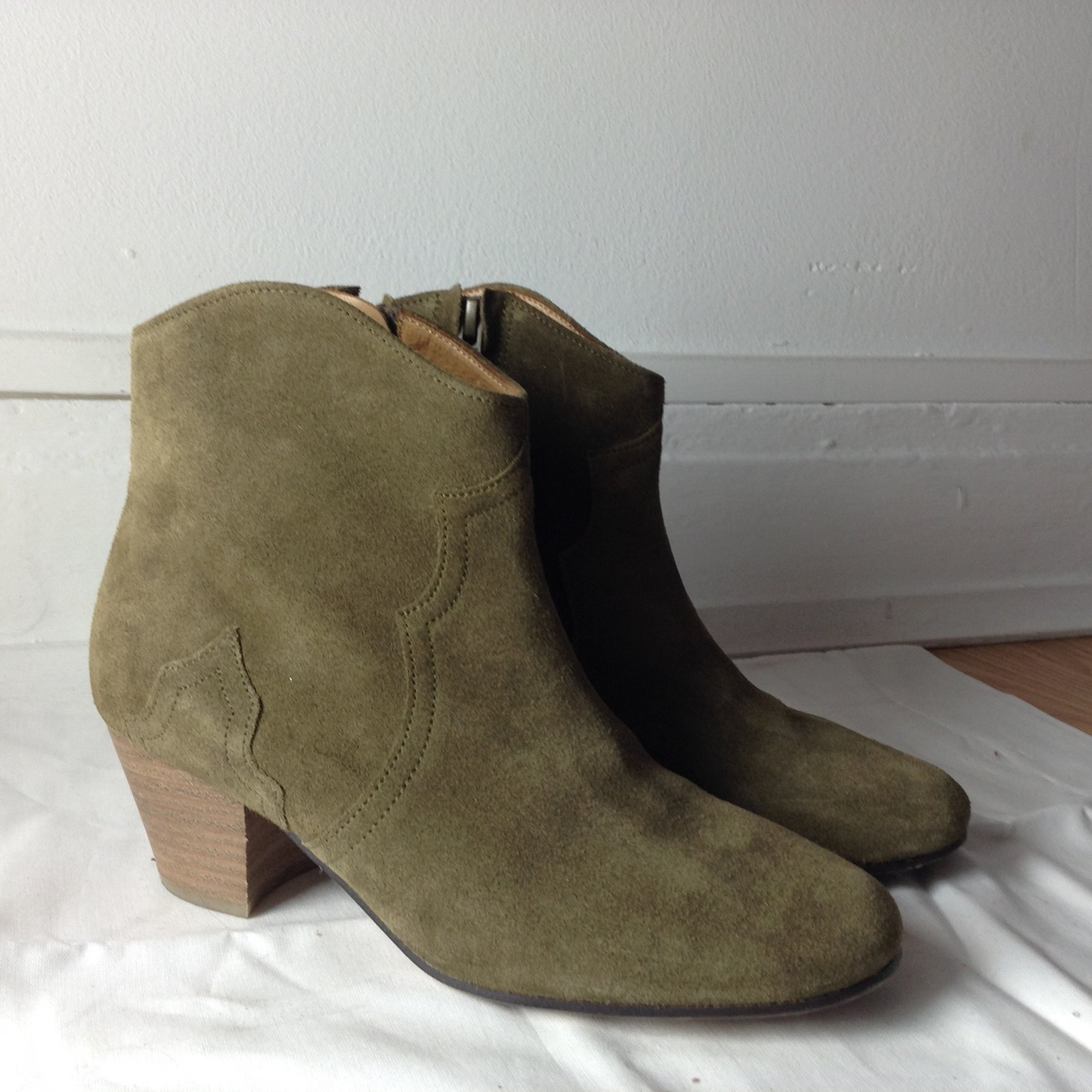 Isabel Marant Etoile Ankle Boots Ankle Boots Deerskin Khaki ref ... 590121251d59