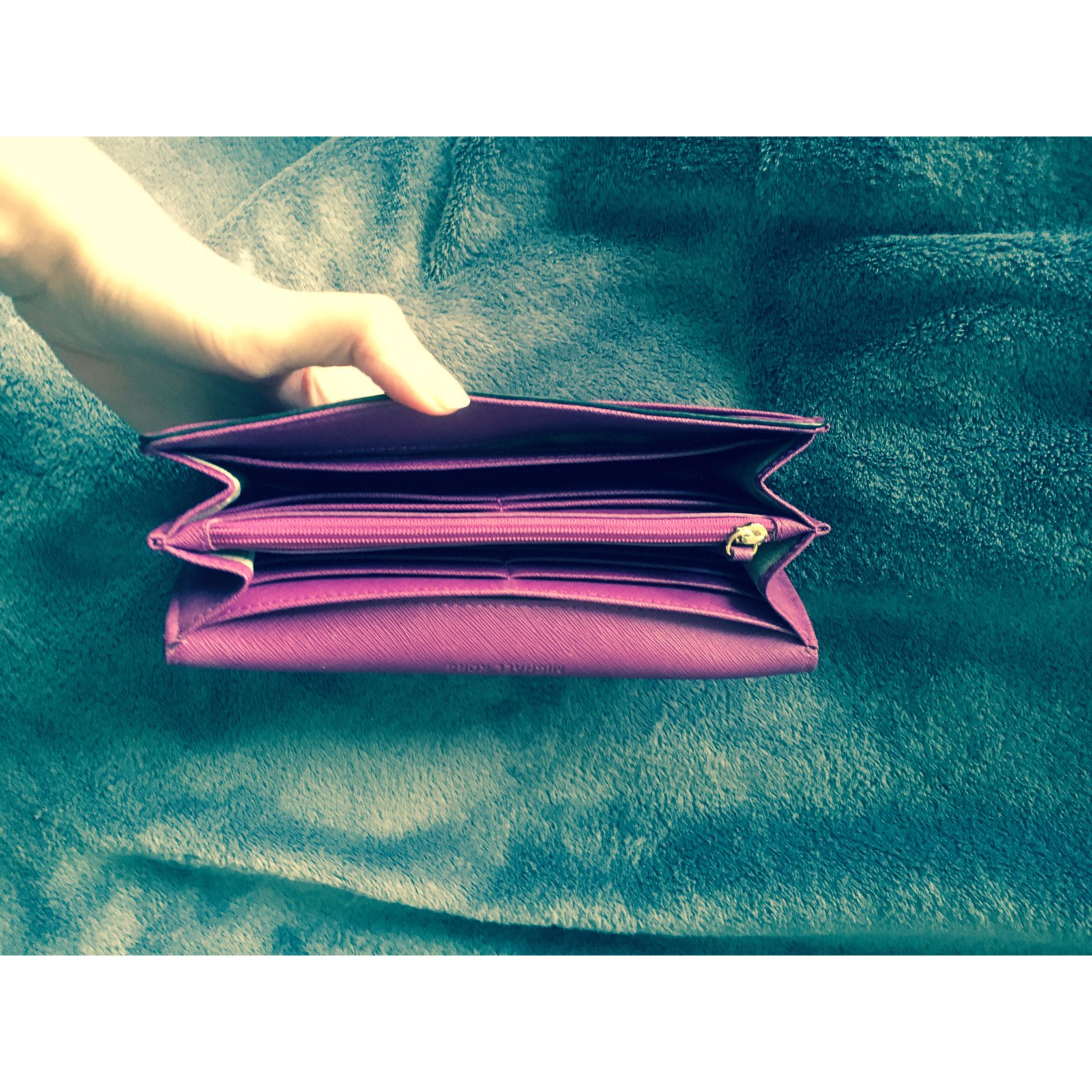 cc022efcdb54 Facebook · Pin This. Michael Kors Wallets Wallets Leather Purple ...