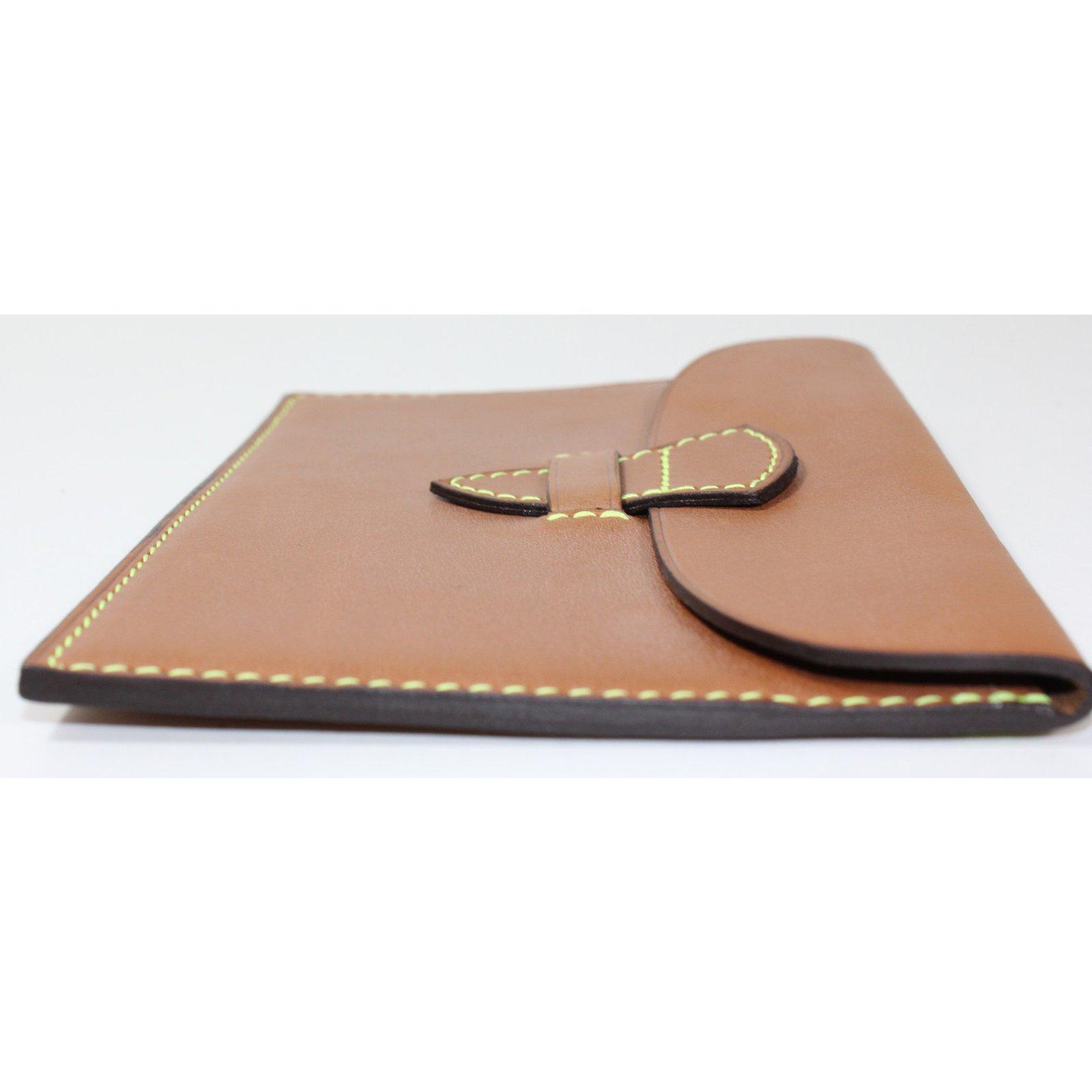 pochettes autre marque pochette maison thomas cuir caramel joli closet. Black Bedroom Furniture Sets. Home Design Ideas