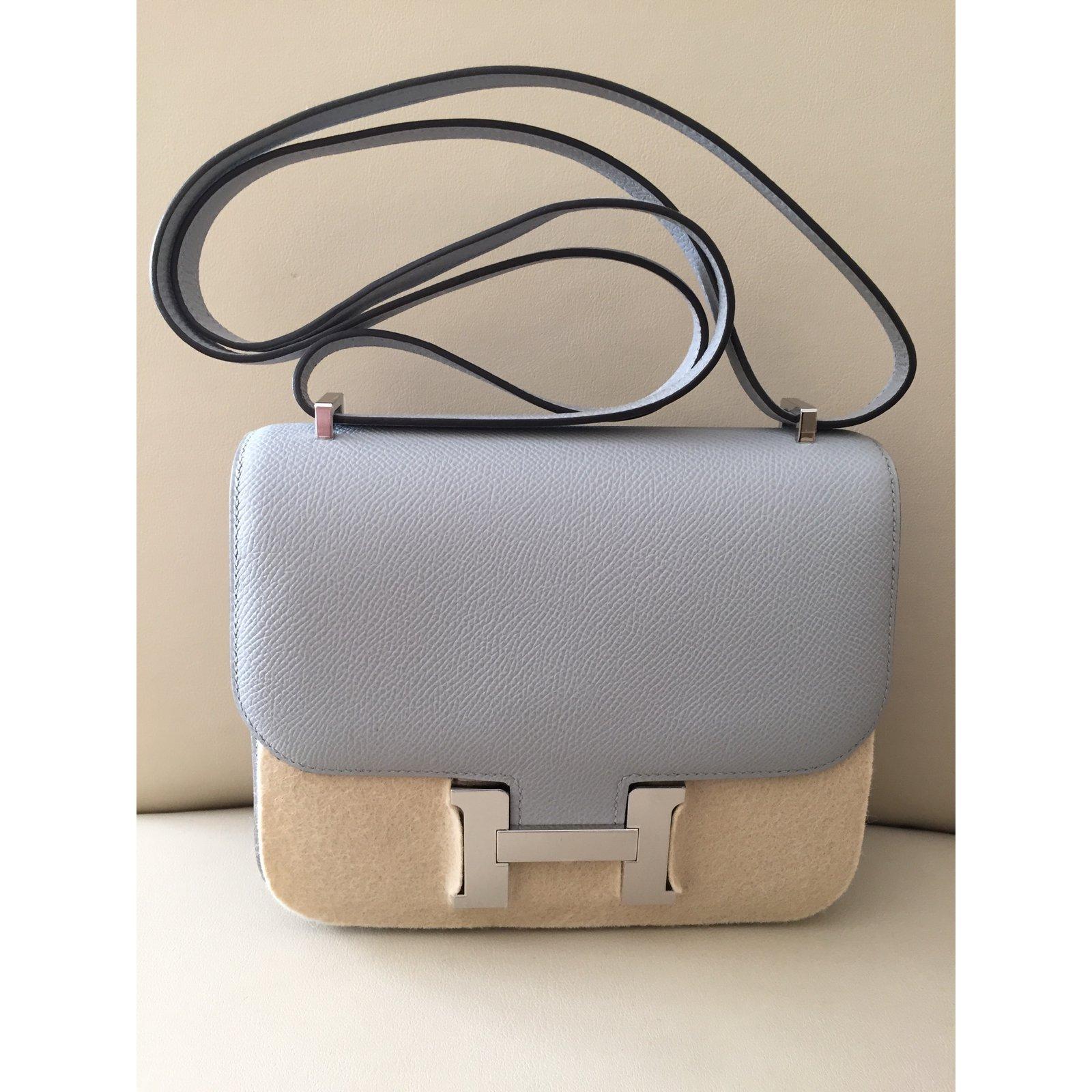 0199b7844e Facebook · Pin This. Hermès Constance Mini 18 Handbags Leather Blue ref .16695