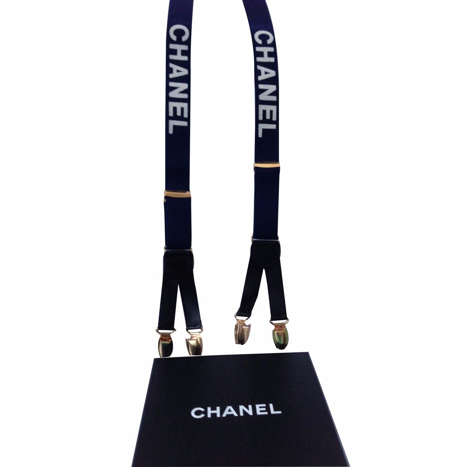 Ceintures Chanel Bretelles Chanel Synthétique Bleu ref.17450 - Joli Closet e4770eda004