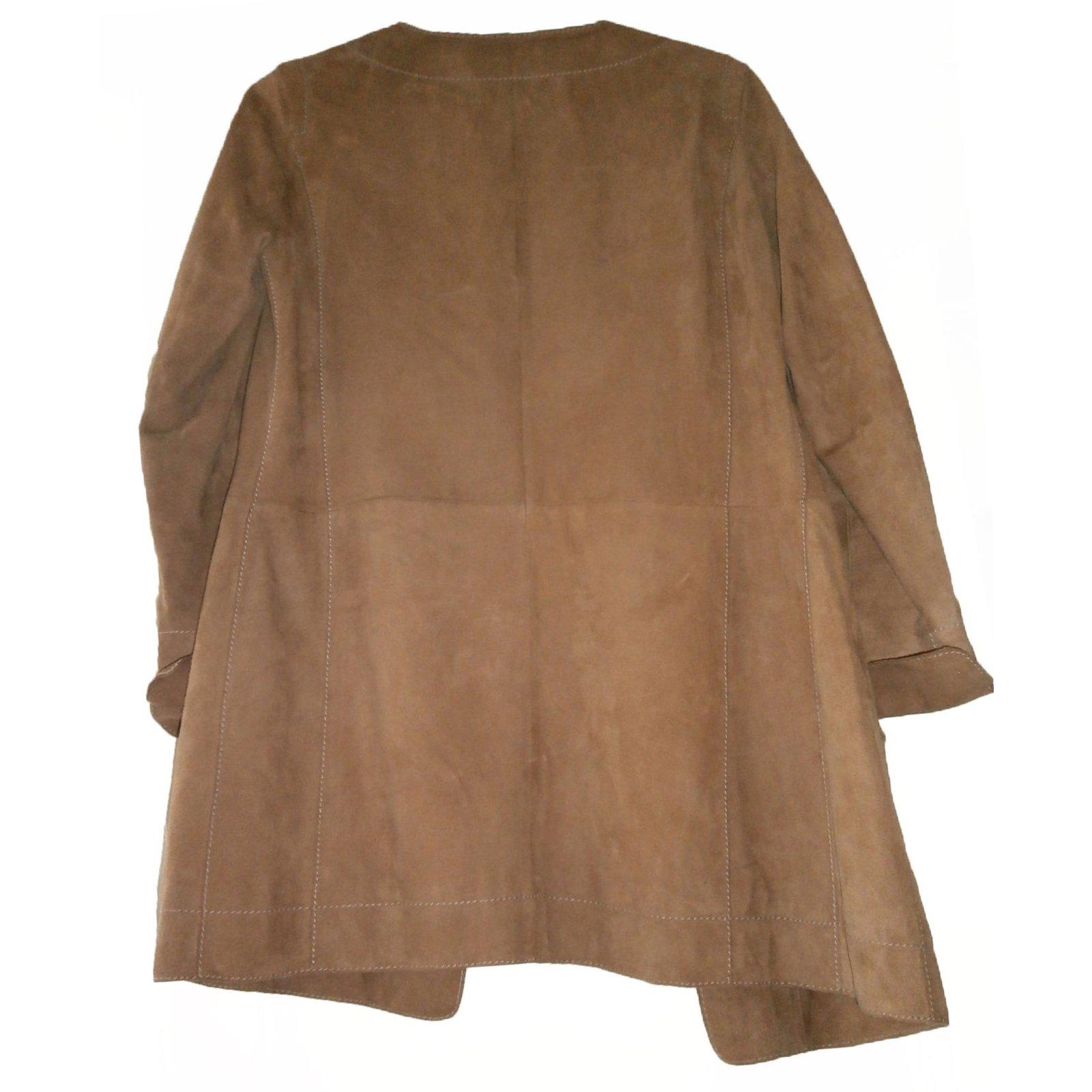 Marque Ref Daim Veste Caramel 34 Autre Manteaux En 17510 501wx