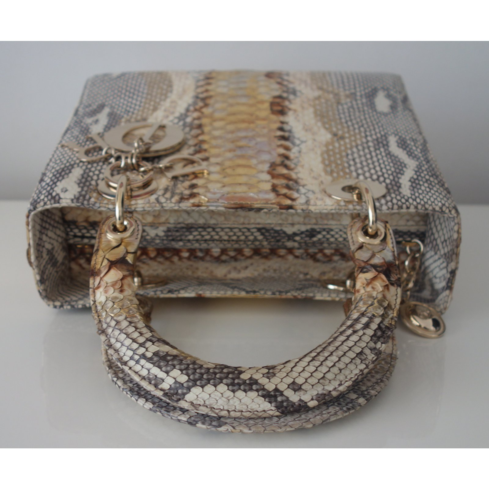 2bed1d537b4 Christian Dior Dior python and Handbags Exotic leather Golden ref.17653 -  Joli Closet