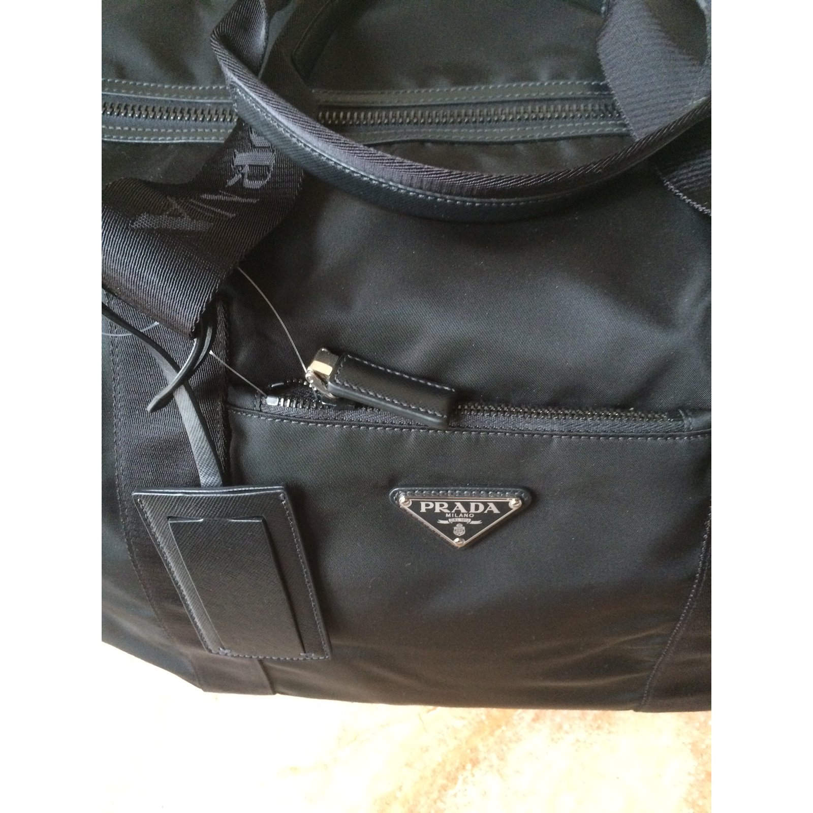 8a17485d2522 Prada Duffle bag Travel bag Nylon Black ref.17703 - Joli Closet